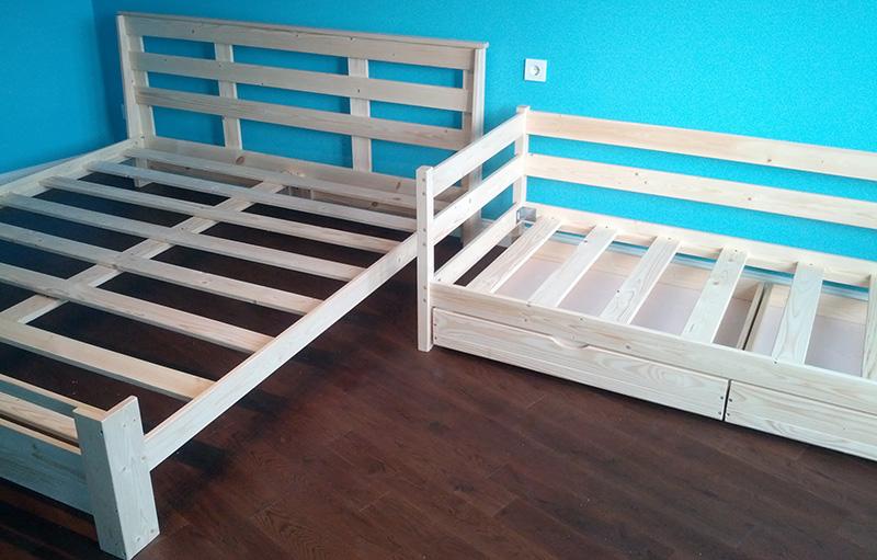 Кровать из реек 183